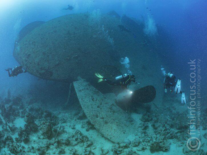 Scuba Travel, Mario Vitalini, Thistlegorm, propeller, Red Sea, Egypt