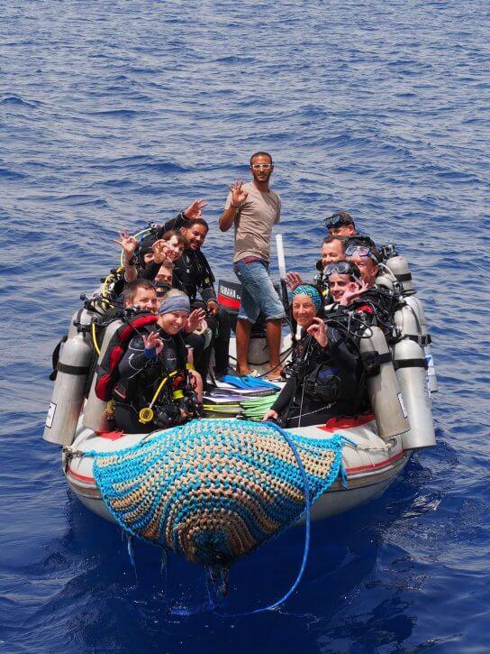 Happy divers Elphinstone