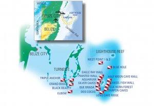 Scuba Travel, Belize, Dive sites maps